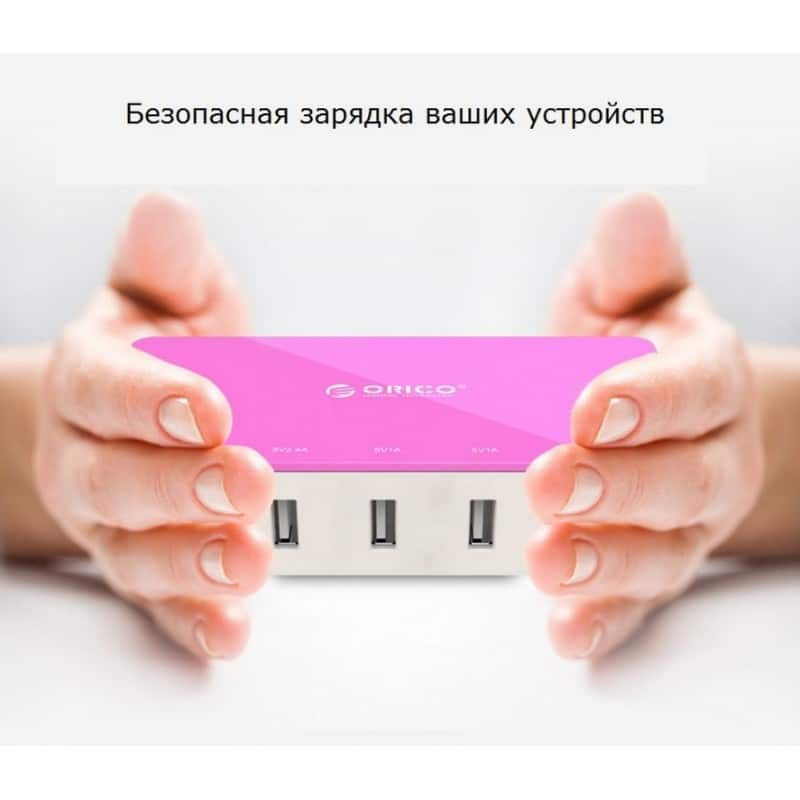 Универсальное 5-портовое зарядное устройство ORICO CSH-5U – 2 х USB 5V 2.4A, 3 x USB 5V 1A 211815