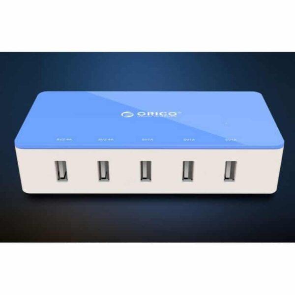 35733 - Универсальное 5-портовое зарядное устройство ORICO CSH-5U - 2 х USB 5V 2.4A, 3 x USB 5V 1A
