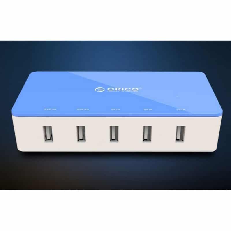 Универсальное 5-портовое зарядное устройство ORICO CSH-5U – 2 х USB 5V 2.4A, 3 x USB 5V 1A 211816