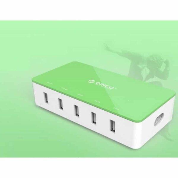 35734 - Универсальное 5-портовое зарядное устройство ORICO CSH-5U - 2 х USB 5V 2.4A, 3 x USB 5V 1A