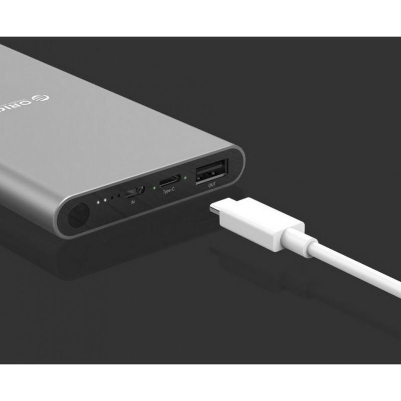 35740 - Ультратонкий powerbank ORICO T1 с Type-C интерфейсом - Micro USB in, USB out, Type-C 5V 2.4A