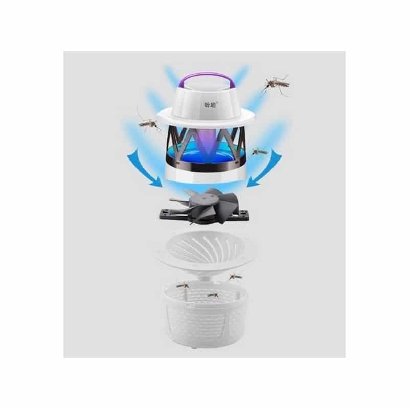 Эффективная механическая ловушка для комаров Mosquito Killer – 6 светодиодов, 7 лезвий, шнур 1.1м 211859