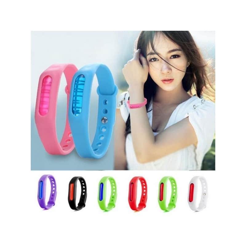 Антимоскитный силиконовый браслет для взрослых и детей (5 штук) 211846
