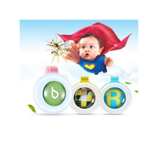 35790 - Детские антимоскитные брелки Babysafe - 5 штук, эфирные масла