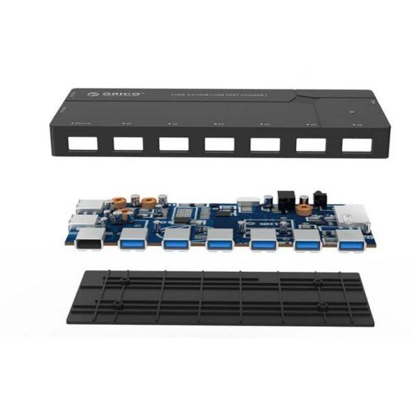 35801 - Многофункциональный HUB ORICO IH6CS - 6 х USB 3.0 для передачи данных, картридер SD, 3 х USB для зарядки