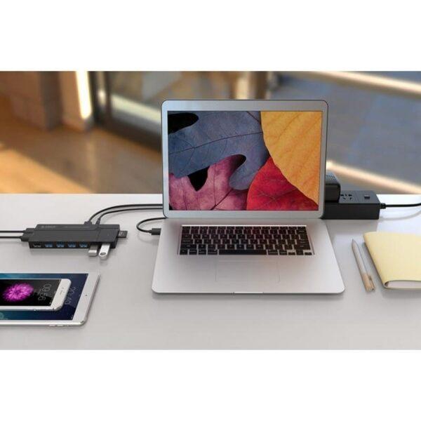 35802 - Многофункциональный HUB ORICO IH6CS - 6 х USB 3.0 для передачи данных, картридер SD, 3 х USB для зарядки