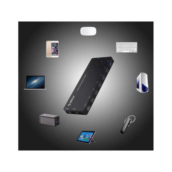 35803 - Многофункциональный HUB ORICO IH6CS - 6 х USB 3.0 для передачи данных, картридер SD, 3 х USB для зарядки