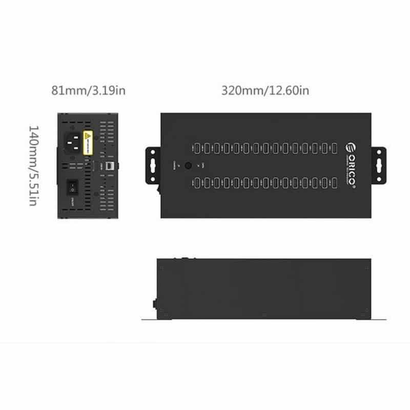 30-портовый концентратор ORICO IH30P USB 2.0 с функцией зарядки 211884