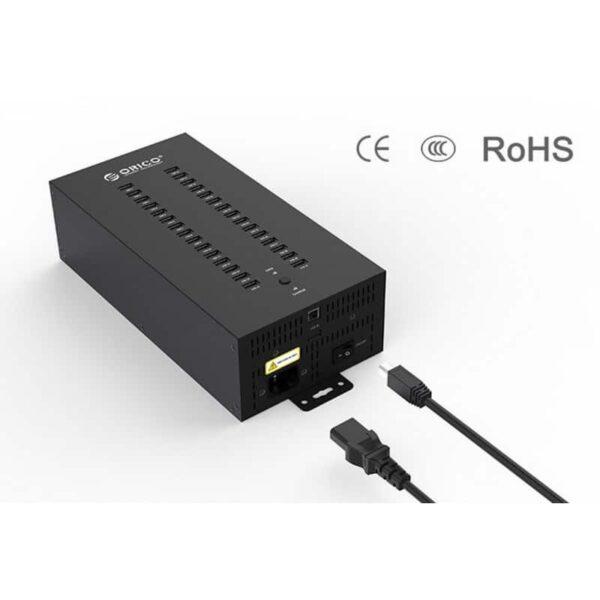 35813 - 30-портовый концентратор ORICO IH30P USB 2.0 с функцией зарядки