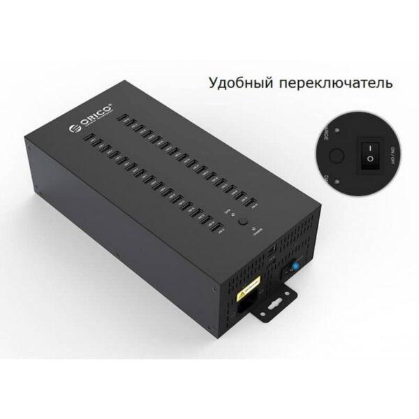 35815 - 30-портовый концентратор ORICO IH30P USB 2.0 с функцией зарядки