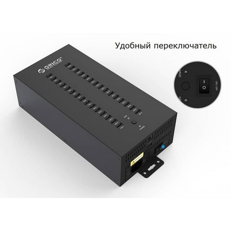 30-портовый концентратор ORICO IH30P USB 2.0 с функцией зарядки 211888
