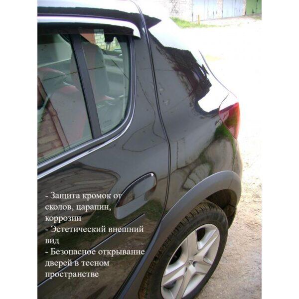 35880 - Защита двери (торцевой молдинг) черного, красного, серебристого, золотистого цвета, полоса-протектор 12 м
