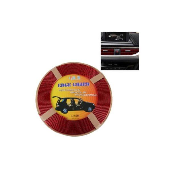 35887 - Защита двери (торцевой молдинг) черного, красного, серебристого, золотистого цвета, полоса-протектор 12 м