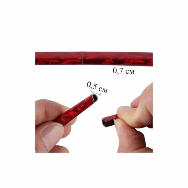 35890 - Защита двери (торцевой молдинг) черного, красного, серебристого, золотистого цвета, полоса-протектор 12 м