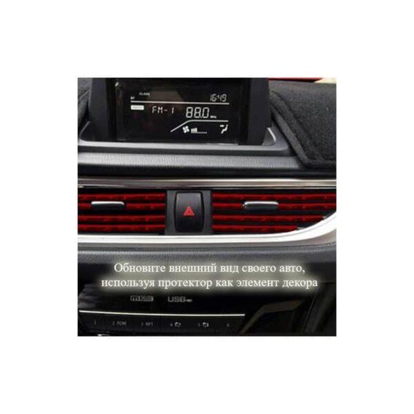 35892 - Защита двери (торцевой молдинг) черного, красного, серебристого, золотистого цвета, полоса-протектор 12 м