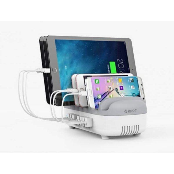 35895 - Универсальное зарядное устройство с подставкой ORICO DUK-10P - 10 х USB 5В 2.4А, 120 Вт, интеллектуальная зарядка