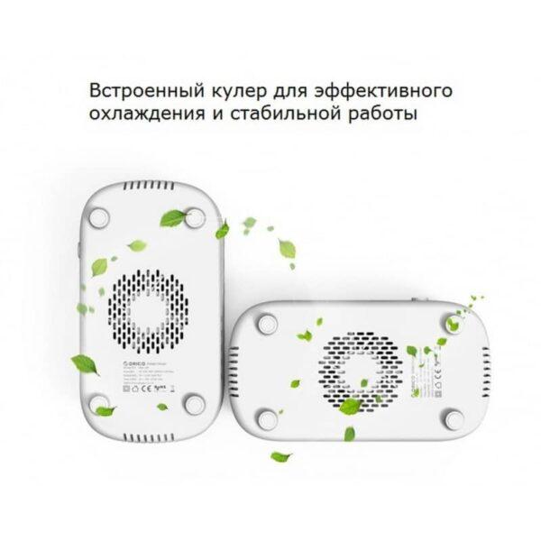 35902 - Универсальное зарядное устройство с подставкой ORICO DUK-10P - 10 х USB 5В 2.4А, 120 Вт, интеллектуальная зарядка