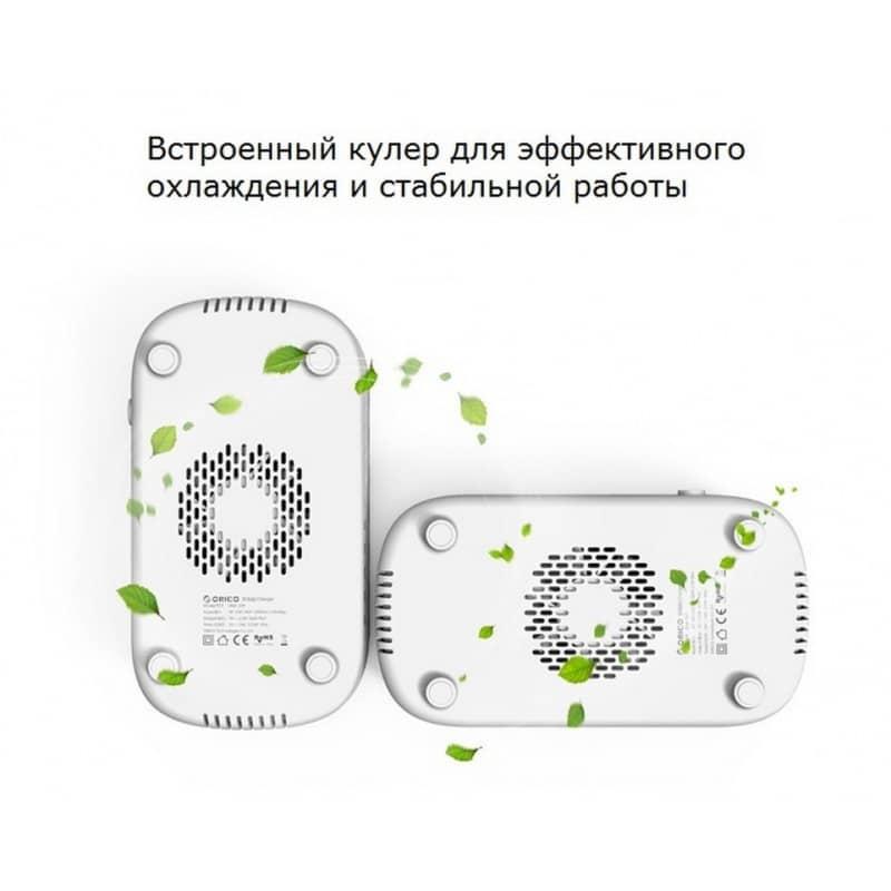 Универсальное зарядное устройство с подставкой ORICO DUK-10P – 10 х USB 5В 2.4А, 120 Вт, интеллектуальная зарядка 211954