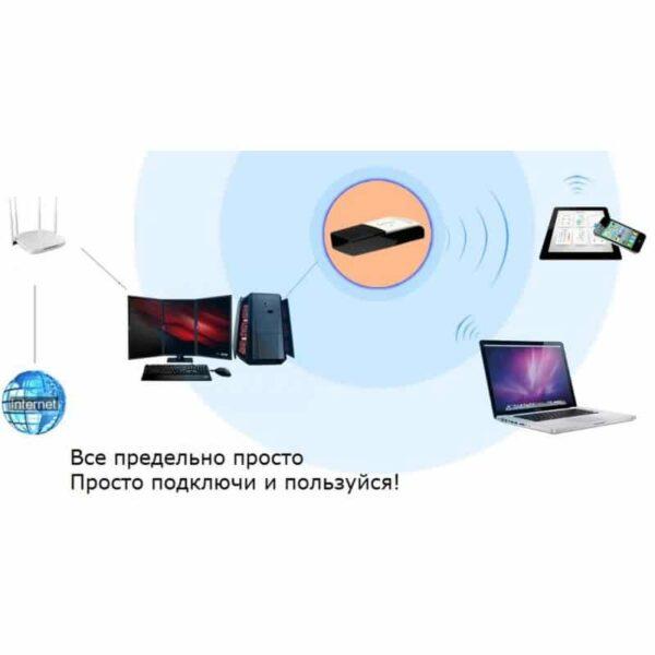 35952 - Беспроводной Wi-Fi USB-адаптер ORICO WF-RE3 со скоростью передачи данных до 300 Мбит/с