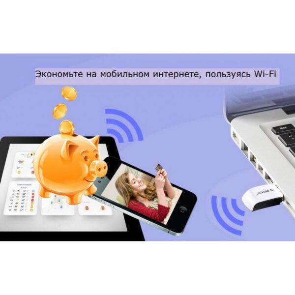 35955 - Беспроводной Wi-Fi USB-адаптер ORICO WF-RE3 со скоростью передачи данных до 300 Мбит/с