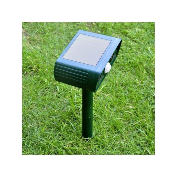 36075 - Ультразвуковой отпугиватель животных с солнечной панелью и датчиком движения