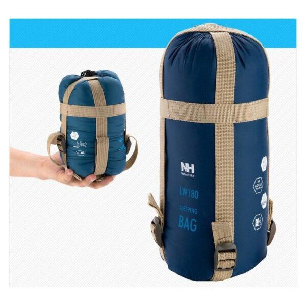 36083 - Суперлегкий (летний) спальный мешок NatureHike LW180: температура комфорта 15°