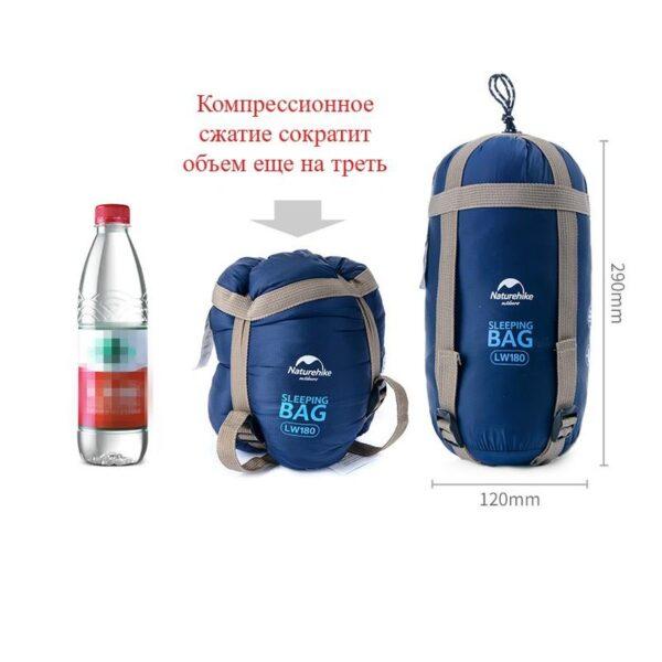 36085 - Суперлегкий (летний) спальный мешок NatureHike LW180: температура комфорта 15°