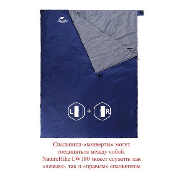 36089 - Суперлегкий (летний) спальный мешок NatureHike LW180: температура комфорта 15°