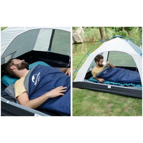 36091 - Суперлегкий (летний) спальный мешок NatureHike LW180: температура комфорта 15°