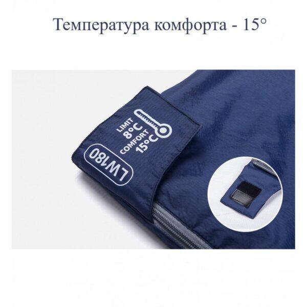 36092 - Суперлегкий (летний) спальный мешок NatureHike LW180: температура комфорта 15°