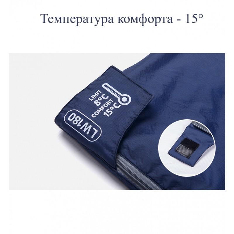Суперлегкий (летний) спальный мешок NatureHike LW180: температура комфорта 15° 212144