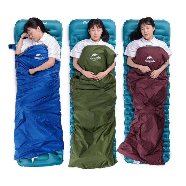 36095 - Суперлегкий (летний) спальный мешок NatureHike LW180: температура комфорта 15°
