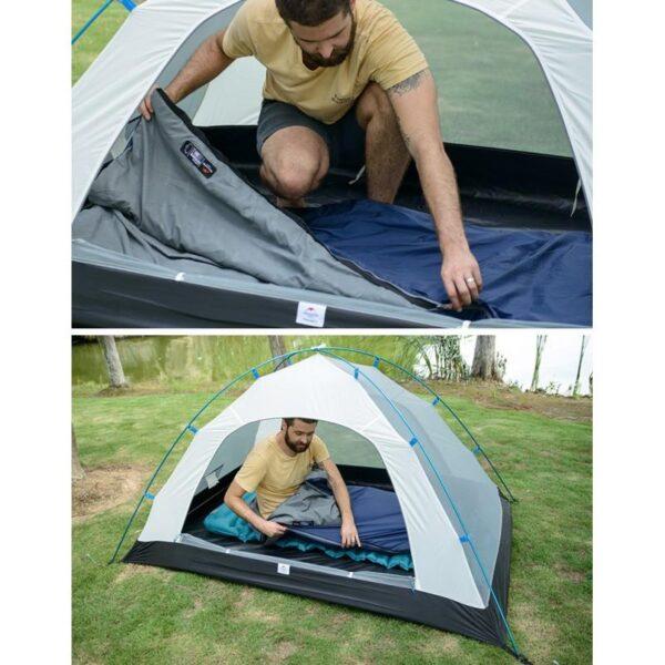 36096 - Суперлегкий (летний) спальный мешок NatureHike LW180: температура комфорта 15°