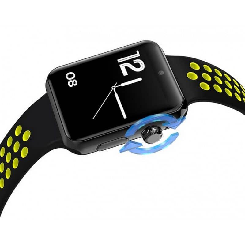 Smart часы-телефон Domino DM09 Plus - Bluetooth 4.0, 1.5 дюймов OLED-дисплей, 1 SIM, шагомер, монитор сна - Желтый