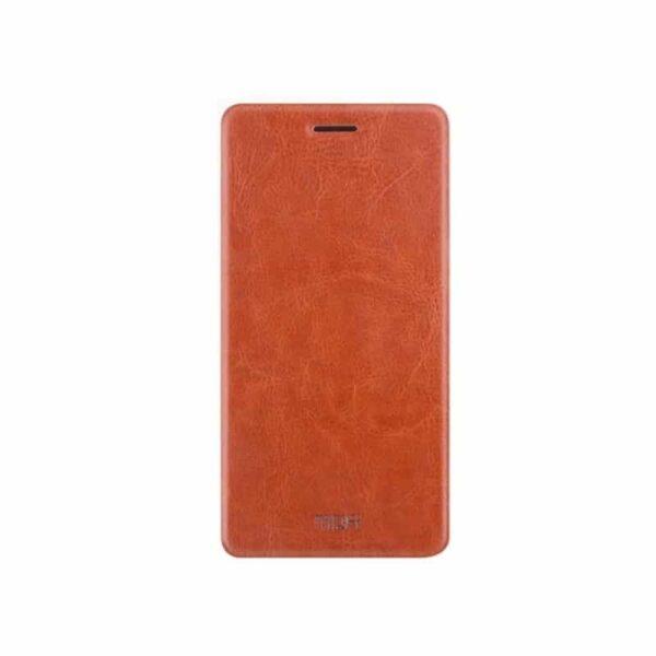 36203 - Кожаный чехол для Xiaomi Max 2 от MOFI - фактура Crazy Horse, горизонтальный флип-держатель