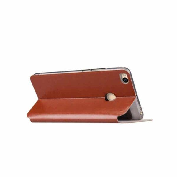 36207 - Кожаный чехол для Xiaomi Max 2 от MOFI - фактура Crazy Horse, горизонтальный флип-держатель