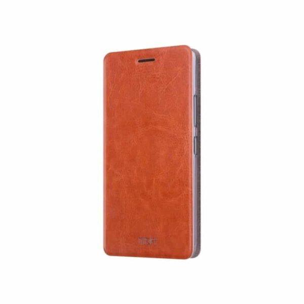 36217 - Кожаный флип-чехол для Xiaomi 5c от MOFI - фактура Crazy Horse, горизонтальный держатель