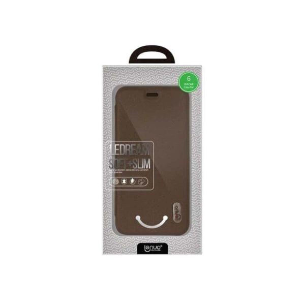 36324 - Стильный кожаный чехол для Xiaomi Mi 6 от Lenuo - PU кожа, PC пластик, отделение для карт