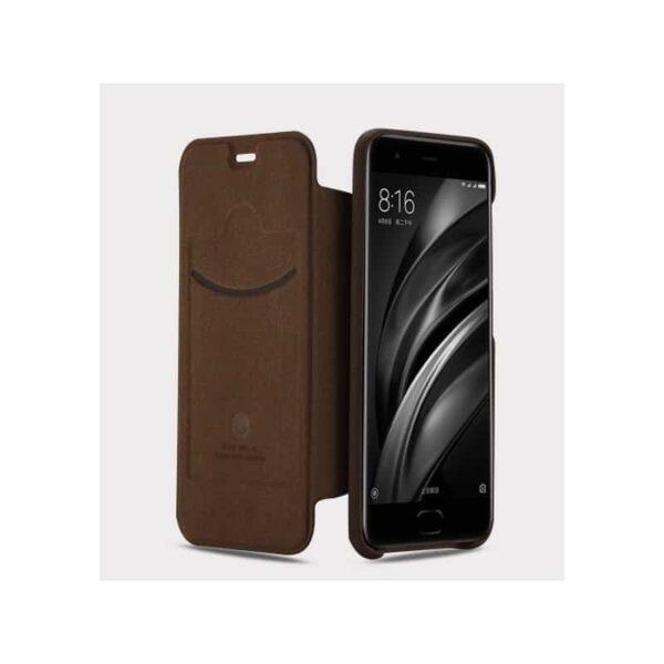 36328 - Стильный кожаный чехол для Xiaomi Mi 6 от Lenuo - PU кожа, PC пластик, отделение для карт