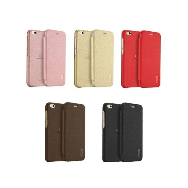 36333 - Кожаный чехол-книжка для Xiaomi Mi 5c от Lenuo - PU кожа, PC пластик, отделение для карт
