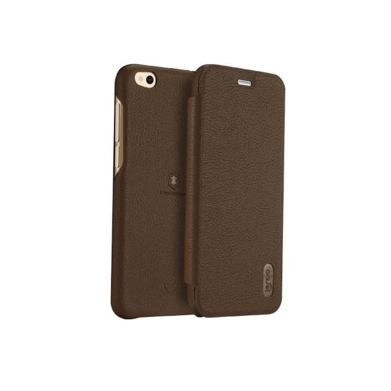 Кожаный чехол-книжка для Xiaomi Mi 5c от Lenuo – PU кожа, PC пластик, отделение для карт 212329