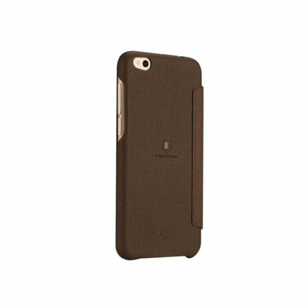 36336 - Кожаный чехол-книжка для Xiaomi Mi 5c от Lenuo - PU кожа, PC пластик, отделение для карт