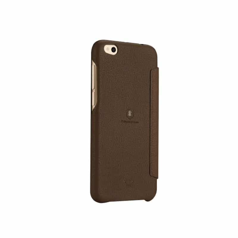 Кожаный чехол-книжка для Xiaomi Mi 5c от Lenuo – PU кожа, PC пластик, отделение для карт 212331