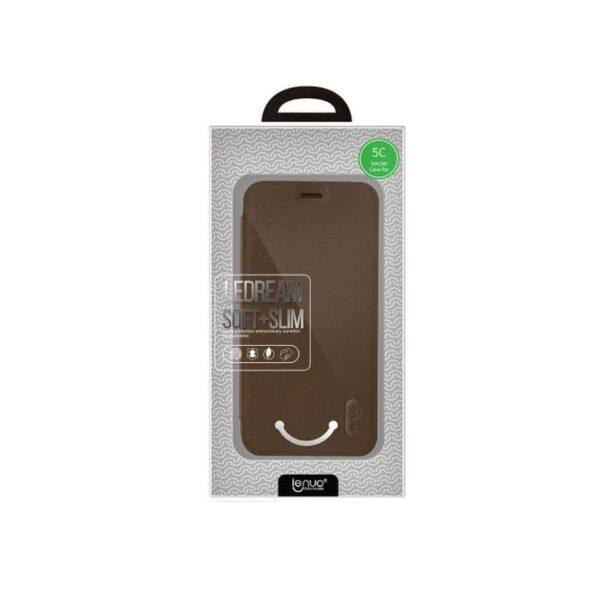 36337 - Кожаный чехол-книжка для Xiaomi Mi 5c от Lenuo - PU кожа, PC пластик, отделение для карт