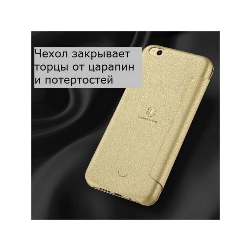 Кожаный чехол-книжка для Xiaomi Mi 5c от Lenuo – PU кожа, PC пластик, отделение для карт 212333