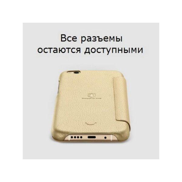 36341 - Кожаный чехол-книжка для Xiaomi Mi 5c от Lenuo - PU кожа, PC пластик, отделение для карт