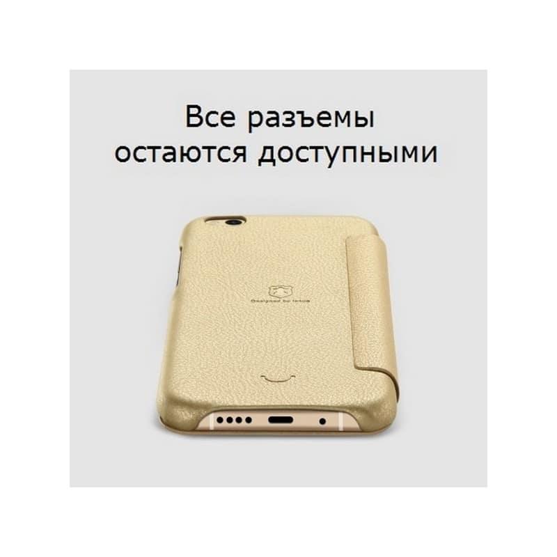 Кожаный чехол-книжка для Xiaomi Mi 5c от Lenuo – PU кожа, PC пластик, отделение для карт 212335