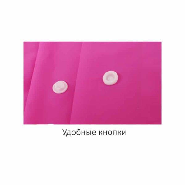 36434 - Уплотненный плащ-дождевик с капюшоном на кнопках – высокое качество, все размеры