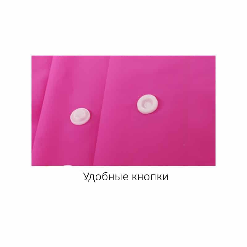 Уплотненный плащ-дождевик с капюшоном на кнопках – высокое качество, все размеры 212435