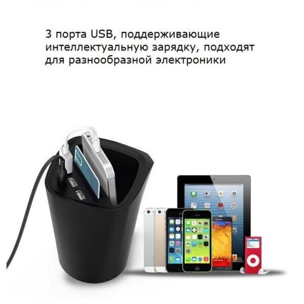 36474 - Многофункциональное зарядное устройство-органайзер ORICO UCH-C3 - 3 х USB, подставка для смартфона, 2 слота для карт